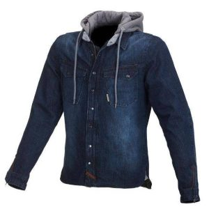 Macna West Coast Denim Hoody – Blue