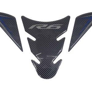 Yamaha YZF-R6 Tank Pad – Carbon / Blue