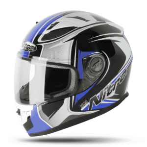 Nitro N2100 Cypher Helmet – Black / White / Blue