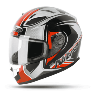 Nitro N2100 Cypher Helmet – Black / White / Red