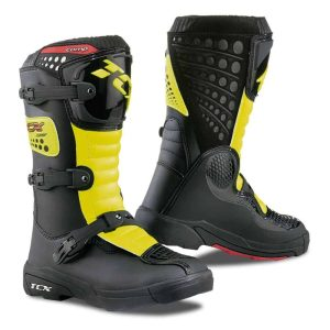 TCX Comp Kid MX/Enduro – Black / Fluro Yellow