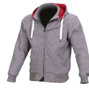 Macna Freeride Cotton Hoody – Grey / Red