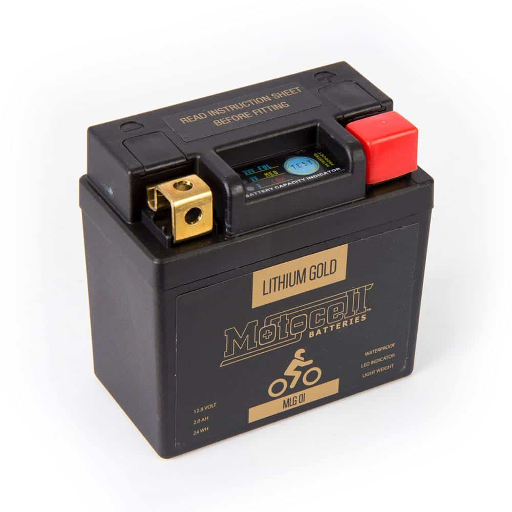 MOTOCELL LFP01 24WH LITHIUM GOLD LiFePO4 BATTERY