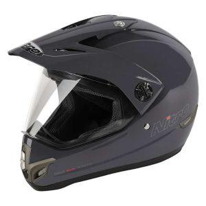 Nitro MX630 Dual Sport Helmet – Titanium