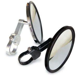Axia Alloy 5″Round Convex Glass Billet Arm Side Mirror – Black