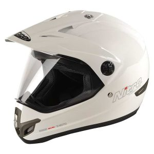 Nitro MX630 Dual Sport Helmet – White