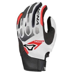 Macna Trace Gloves – White / Black / Red