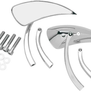 Parts Unlimited Teardrop Mirrors w/Short and Long Radius Stems