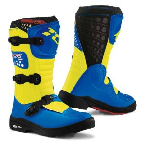 TCX Comp Kid/Youth Off-Road Boot Blue/Yellow