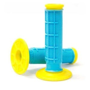 Kwala Pro Series Dual Ply MX Grips – Yellow / Blue