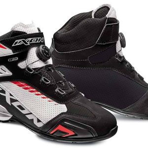 Ixon Bull Vented Black/White/Red Boots