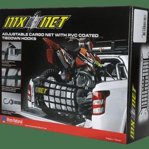 MX-NET Adjustable Cargo Net With PVC Coated Tiedown Hooks