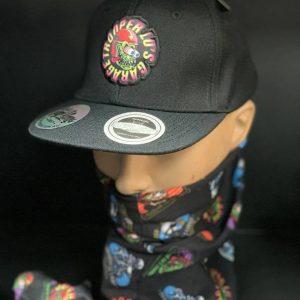 TLG's UFlex Kids Snapback Flat Peak Cap Black