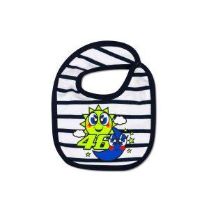 VR46 Striped Baby Bib